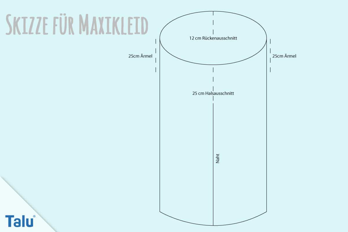 Maxikleid Skizze