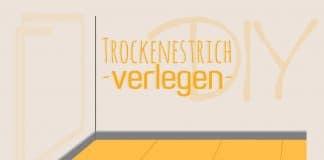 Trockenestrich verlegen, DIY-Anleitung
