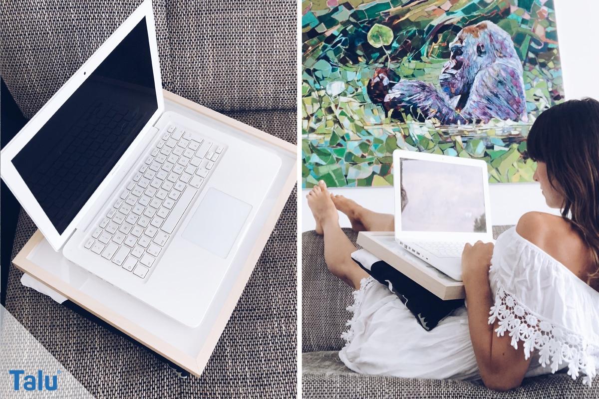Laptop Kissen nähen