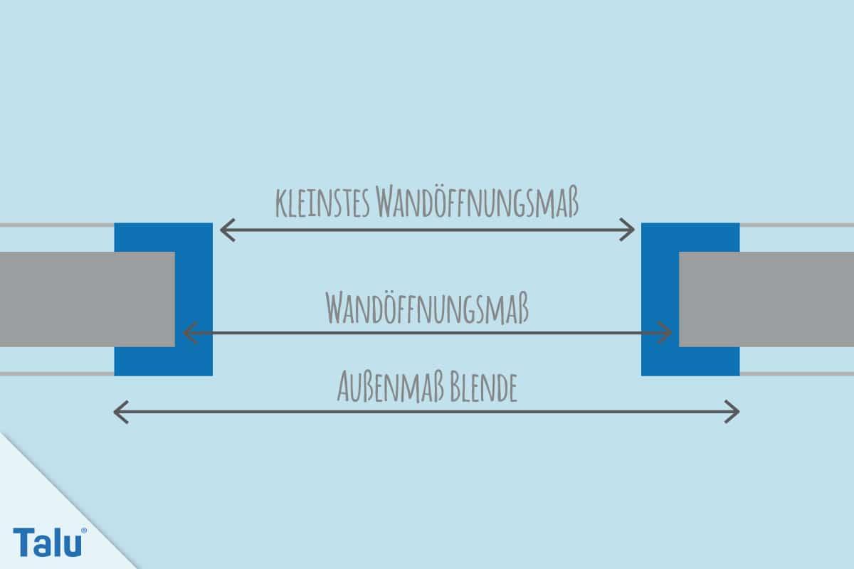 Turbo Maße von Zimmertüren mit/ohne Zarge: Normen + Info-PDF - Talu.de MZ45