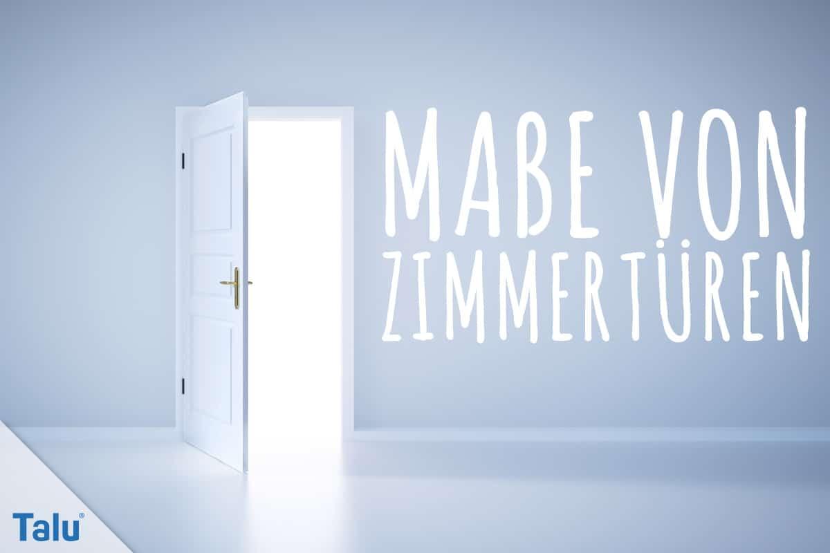 Fabulous Maße von Zimmertüren mit/ohne Zarge: Normen + Info-PDF - Talu.de ZR49