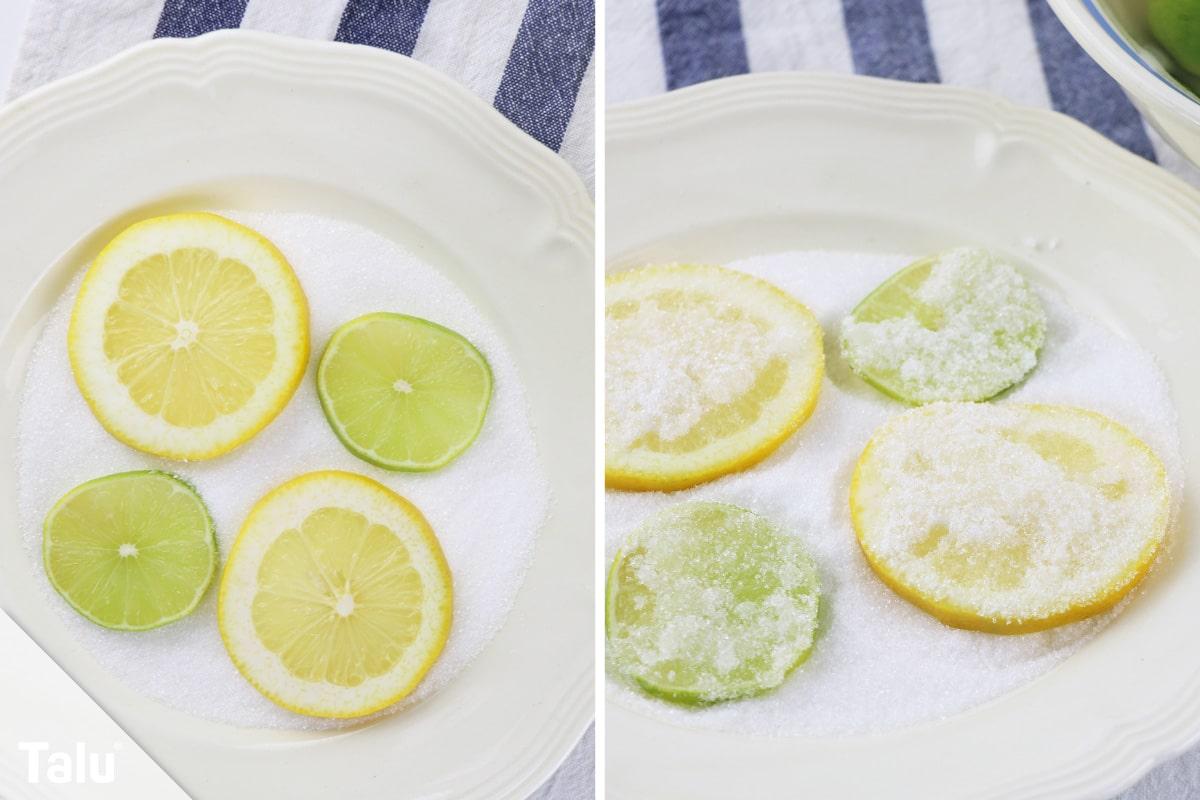 Zitronenscheiben trocknen