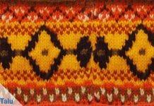 farbiges Ethno Muster stricken