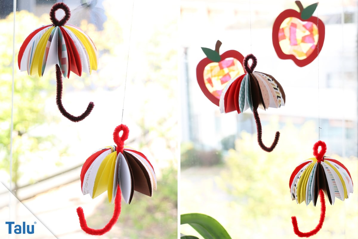 Herbst-Fensterdeko basteln