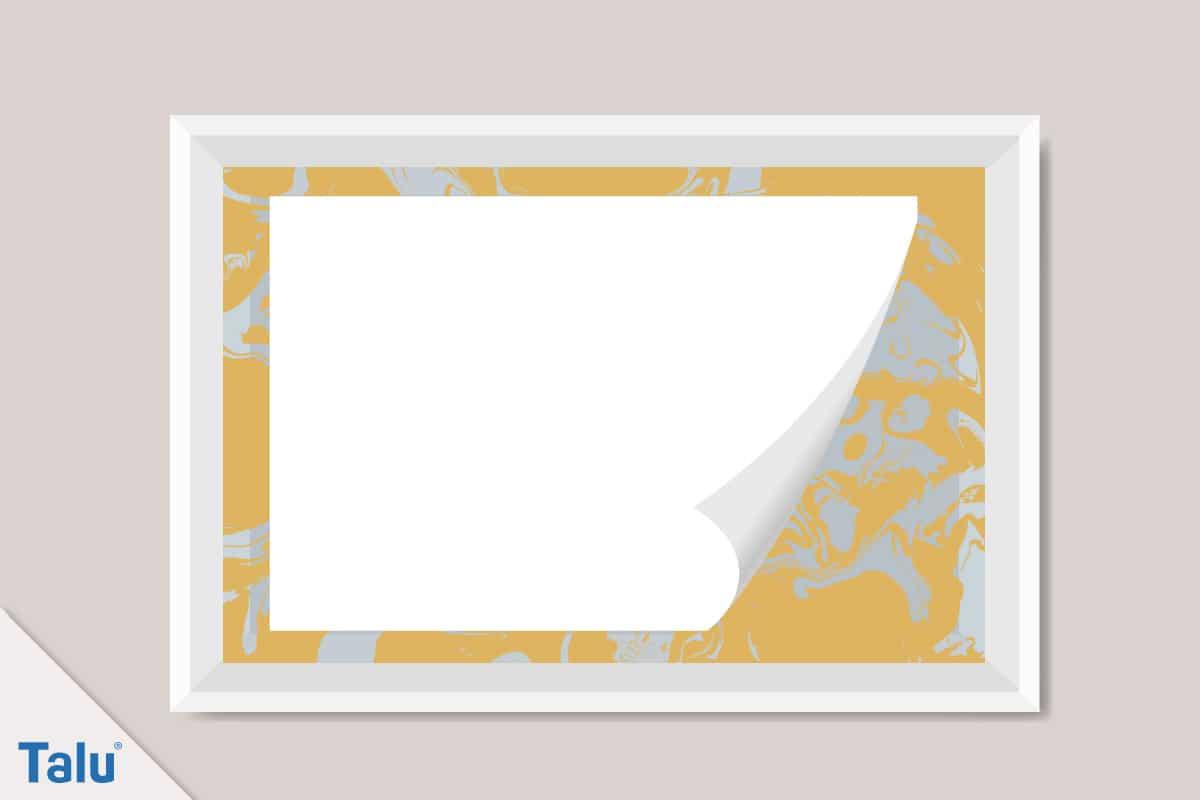Marmorieren, Anleitung und Ideen, Papier, Blatt Papier auflegen