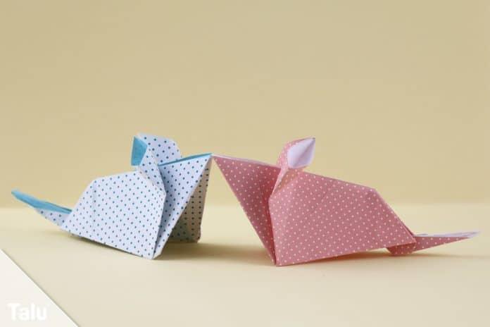 Origami Maus Falten Anleitung Mit Bildern Talu De
