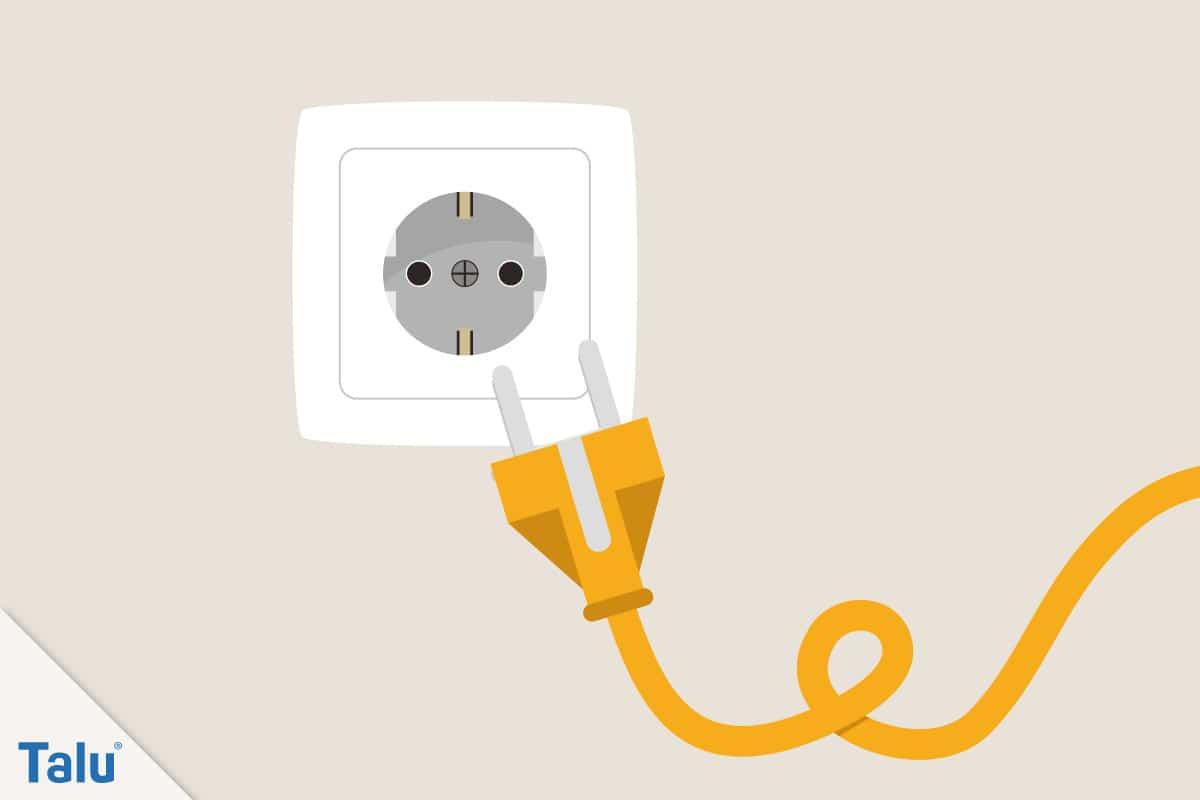 Schaumstoff richtig schneiden, Anleitung, elektrische Geräte nach Gebrauch vom Strom trennen