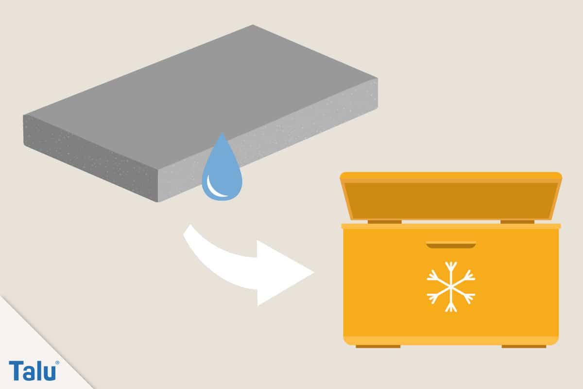 Schaumstoff richtig schneiden, Anleitung, alternativ den Schaumstoff einfrieren