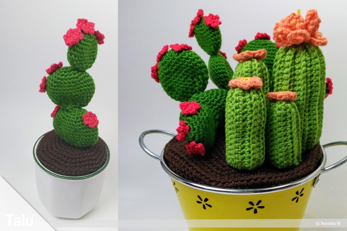 Kaktus häkeln - Blätterkaktus, fertig gehäkelt