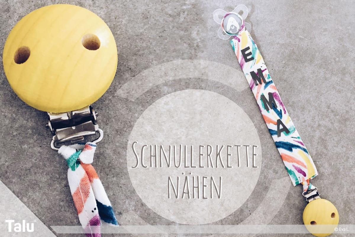 Bekannt Schnullerkette nähen mit Namen - Anleitung - Talu.de SG59