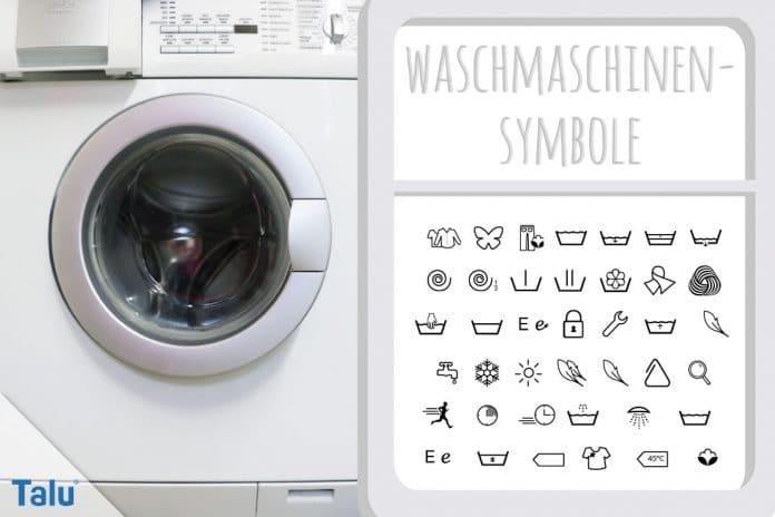 Symbole an der Waschmaschine, Bedeutung aller Zeichen