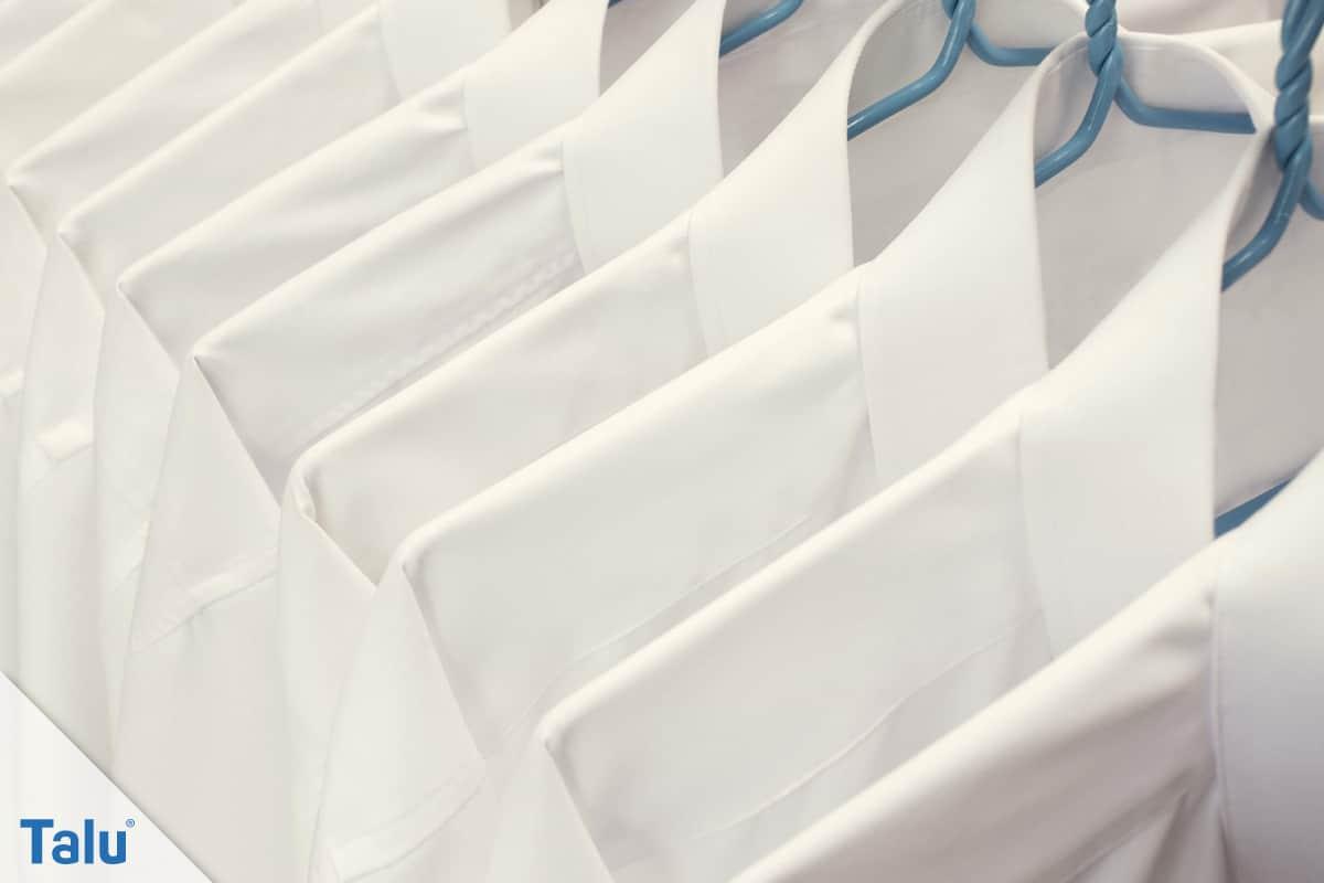 Weiße Wäsche wieder weiß bekommen, vergilbte Hemden