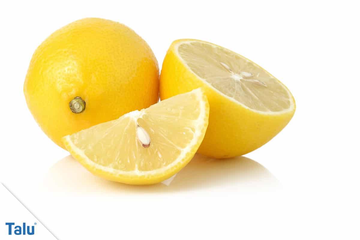 Weiße Wäsche wieder weiß bekommen, Zitronensäure