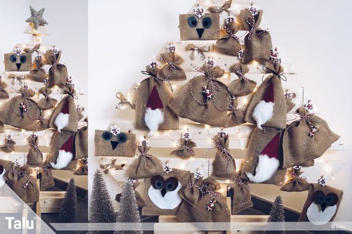 Weihnachtskalender Für Kinder Basteln.Adventskalender Für Kinder Diy Anleitung Zum Basteln Und Nähen