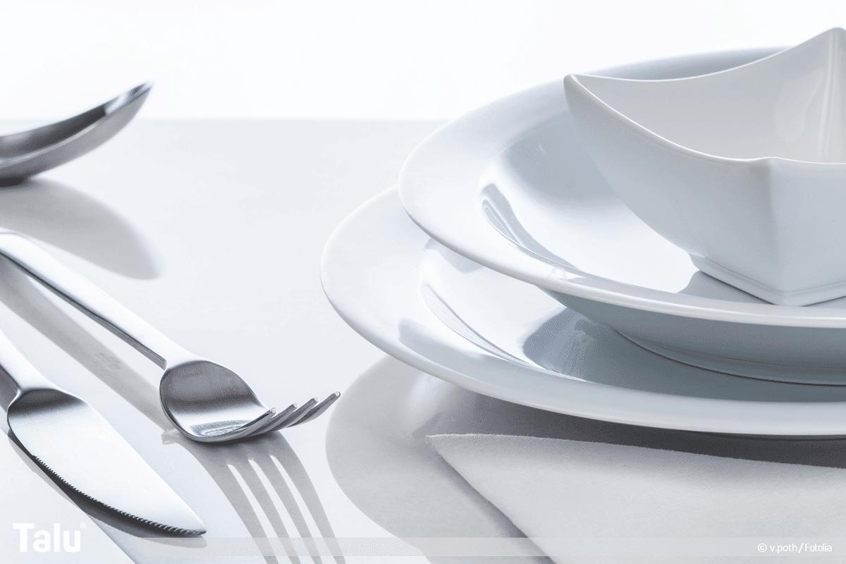 Geschirrspüler, Schlieren und Beläge, Geschirr und Besteck