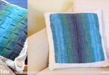 Kissenhülle stricken – kostenlose Strickanleitung für Kissen