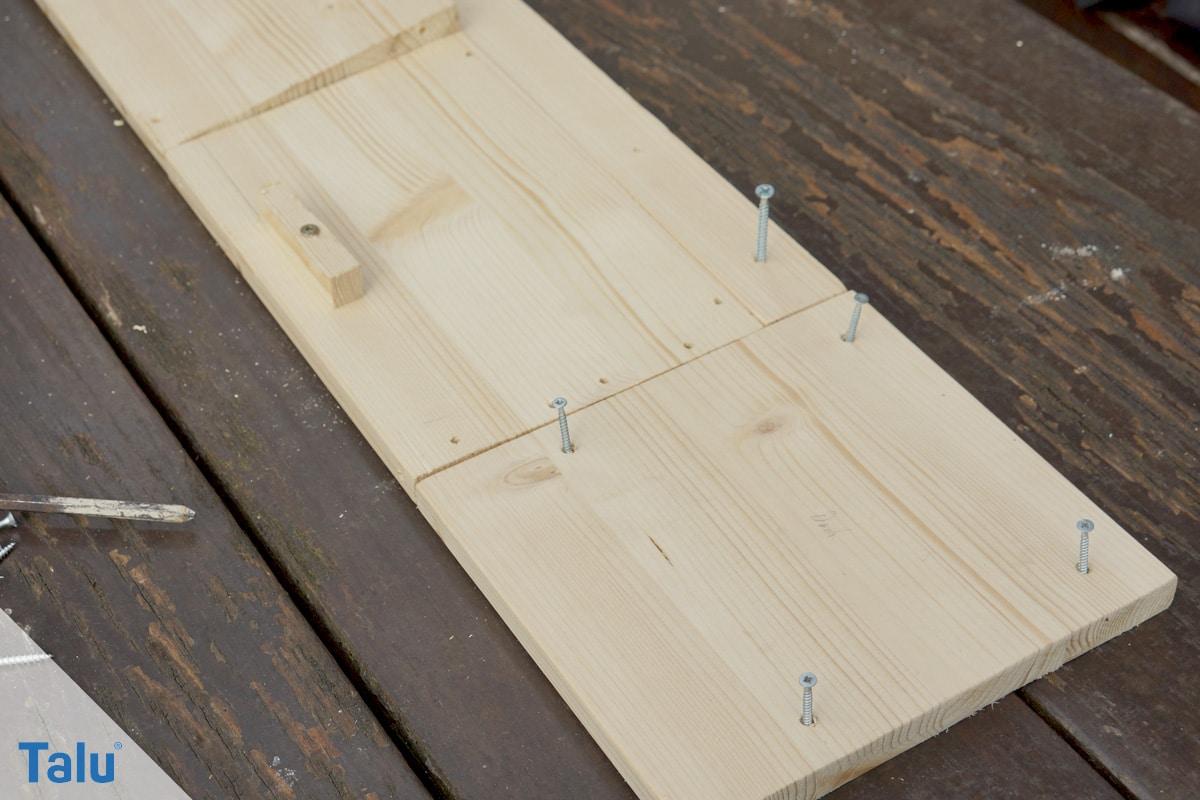 Kobel bauen, Eichhörnchenhaus, Holzplatten und Schrauben