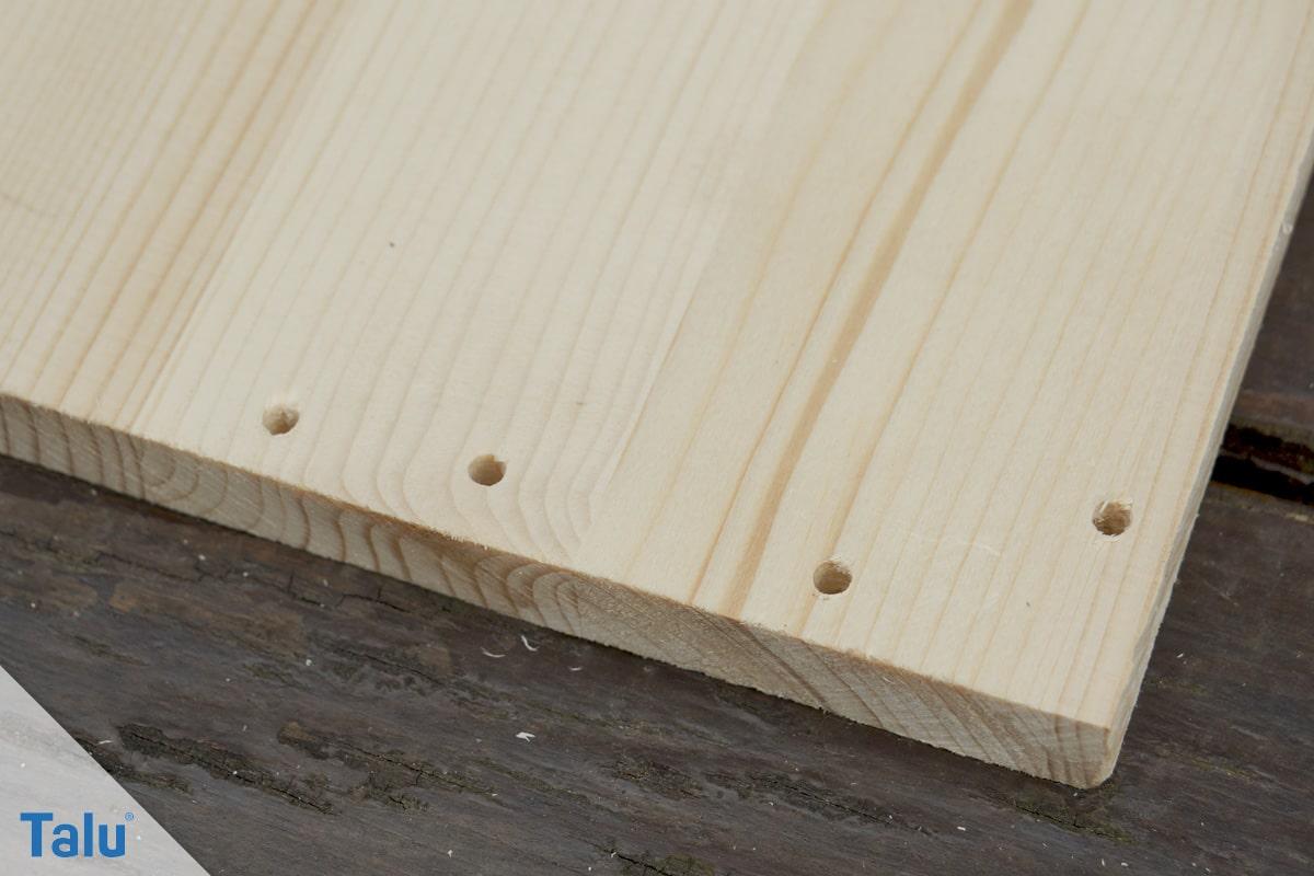 Kobel bauen, Eichhörnchenhaus, Holzplatten