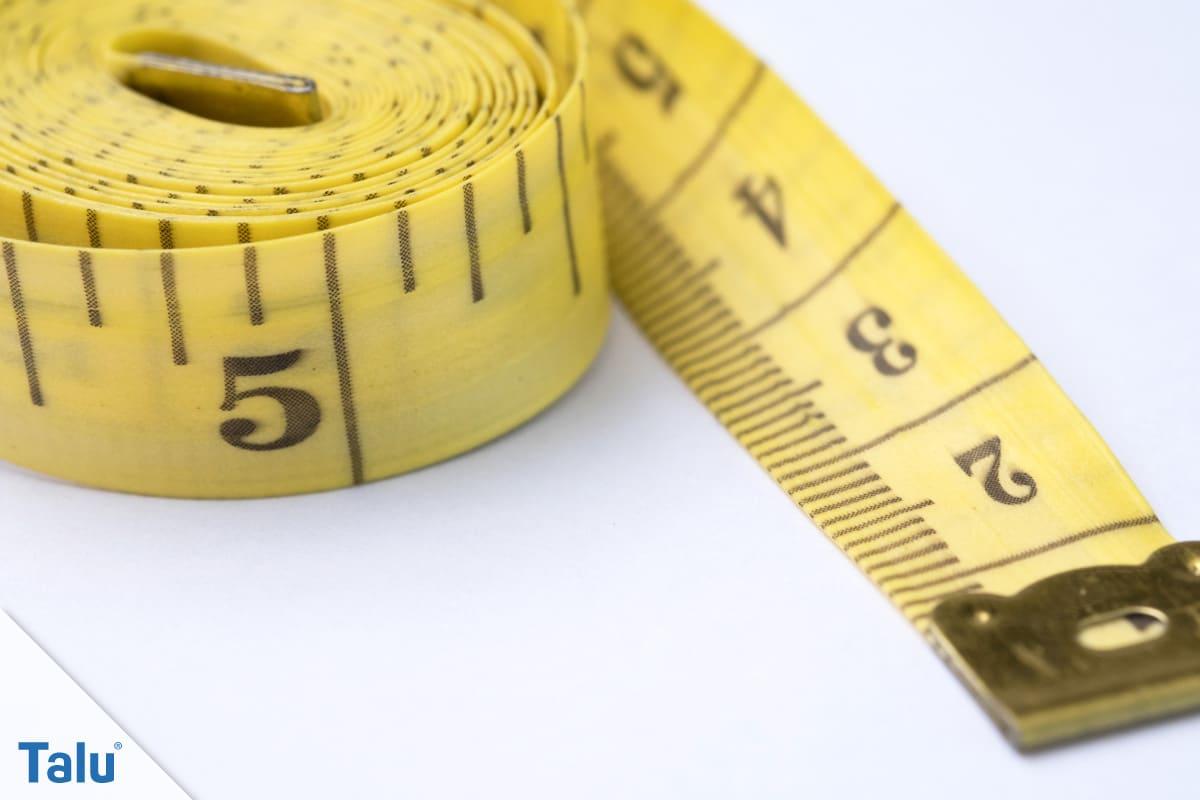 Hüftumfang messen für Damen und Herren, Maßband