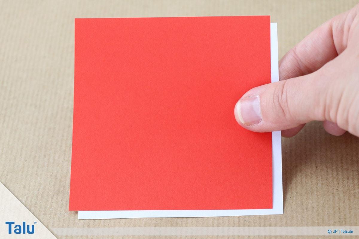 Nikolaus basteln, Variante 1, Papier zum Falten