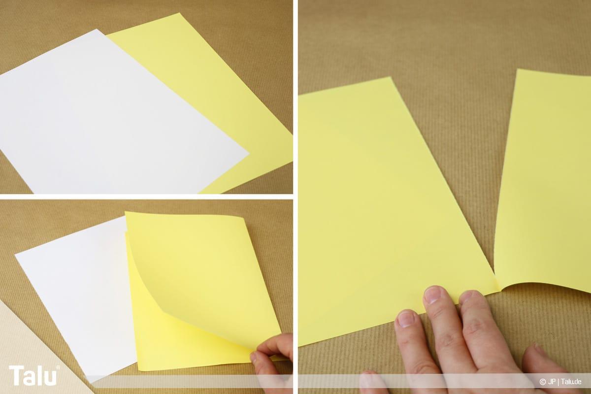 Papierengel basteln, Variante 2, Papierformat für zweiten Engel zurechtschneiden
