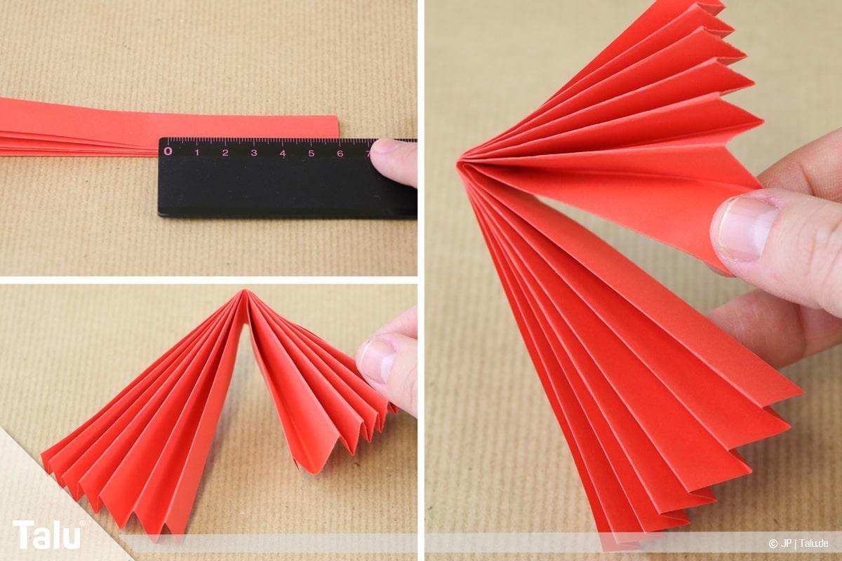 Papierengel basteln, Variante 1, Flügel des Papierengels