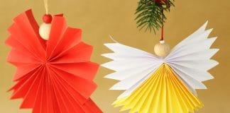 Papierengel basteln, Anleitung für einen Engel aus Papier