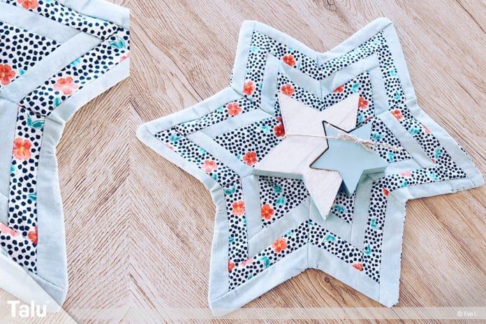 Platzdeckchen nähen, Anleitung für einen genähten Patchwork Stern