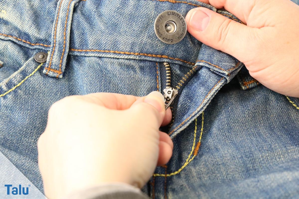 Reißverschluss-Zipper klemmt, Jeanshose