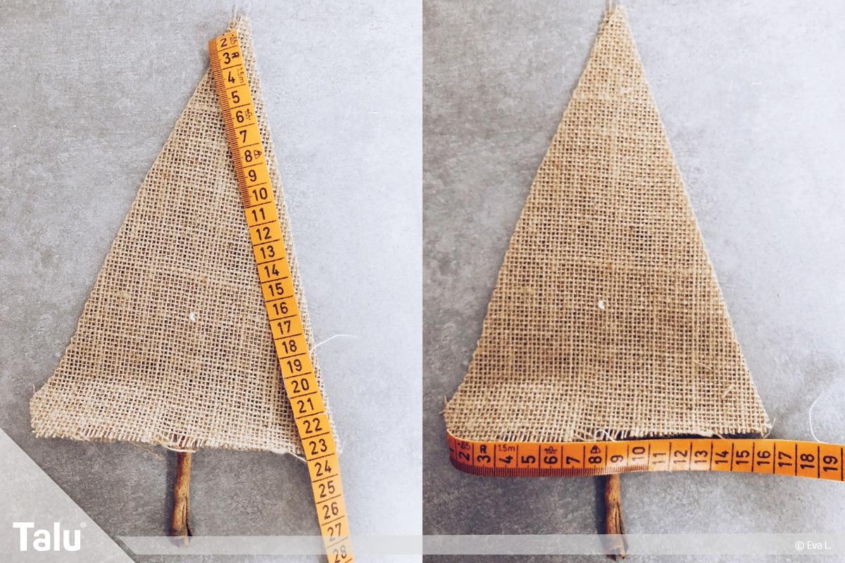 Tannenbaum nähen Variante 1, Maße