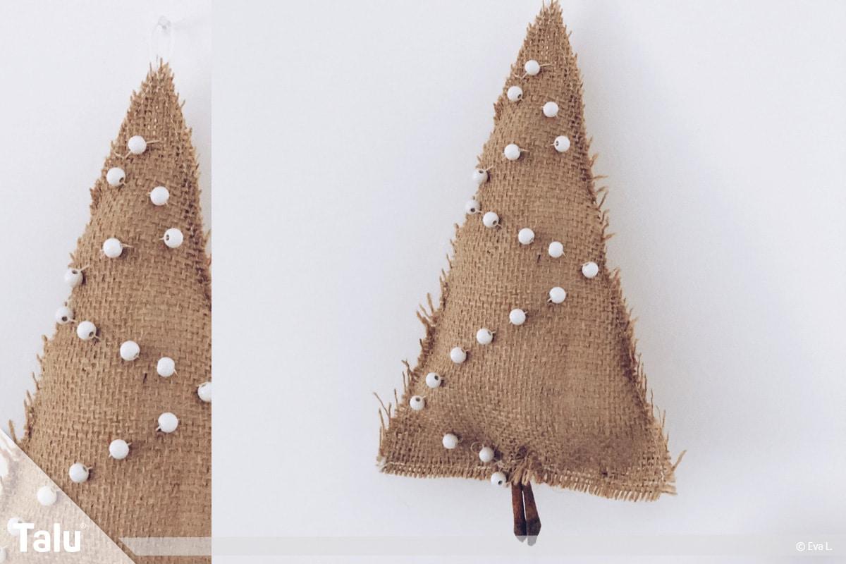 Tannenbaum nähen Variante 1, fertiger Tannenbaum zum Aufhängen
