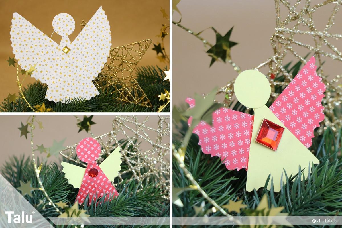 Weihnachtsengel basteln, Variante 3, fertige Engel nach Variante 3
