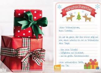 Wunschzettel für Weihnachten – Word-Vorlage zum Ausdrucken