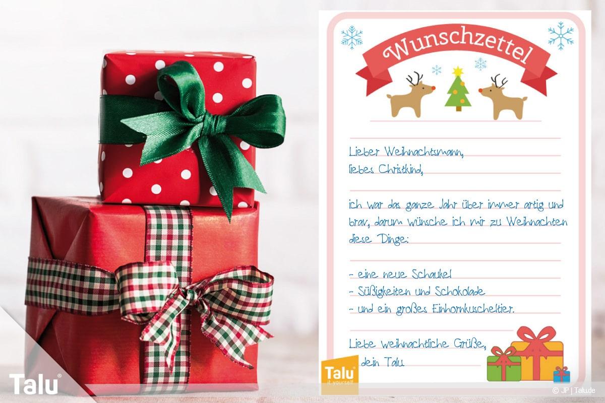 Wunschzettel Fur Weihnachten Word Vorlage Zum Ausdrucken