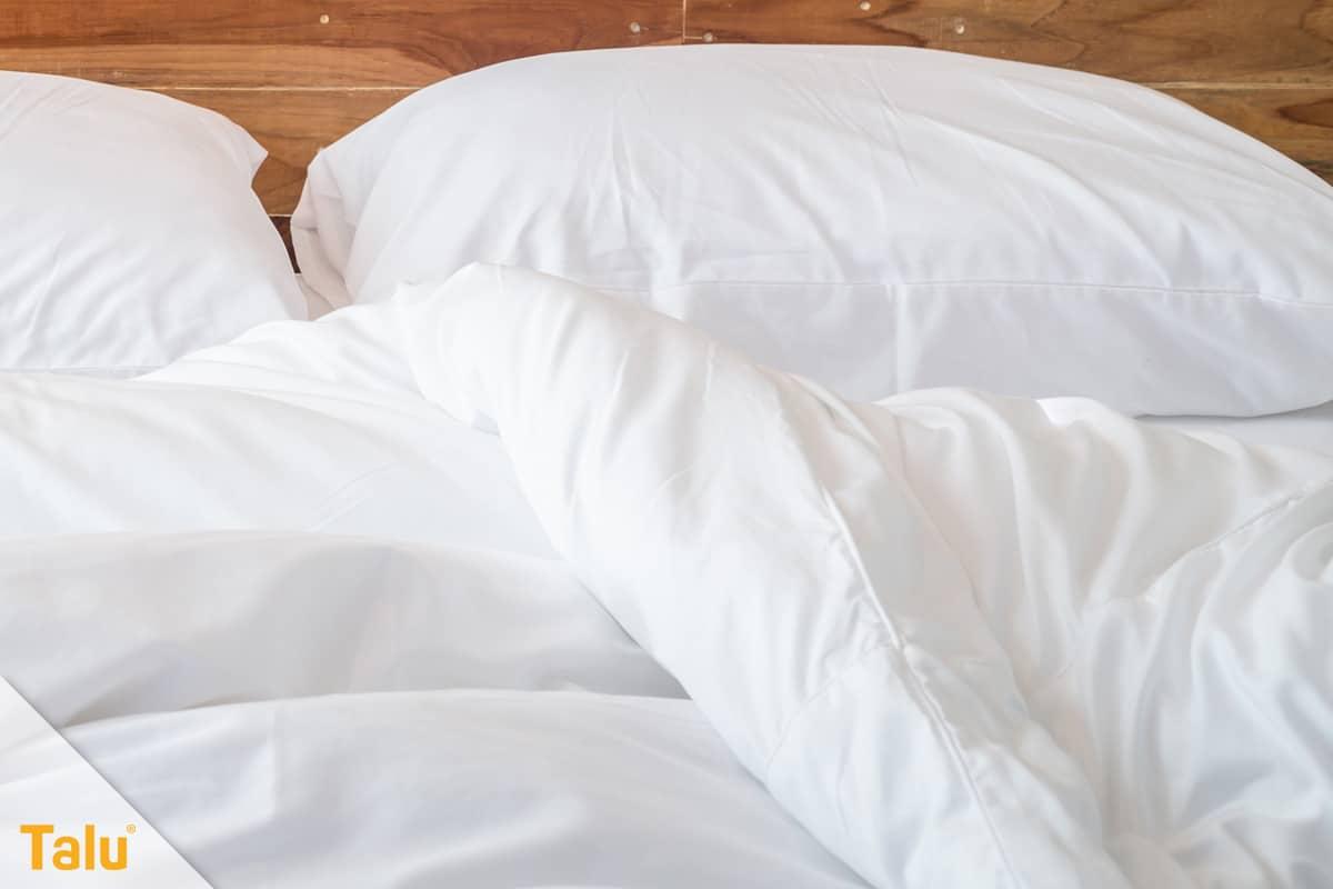 Bettwäsche wechseln, Bettzeug