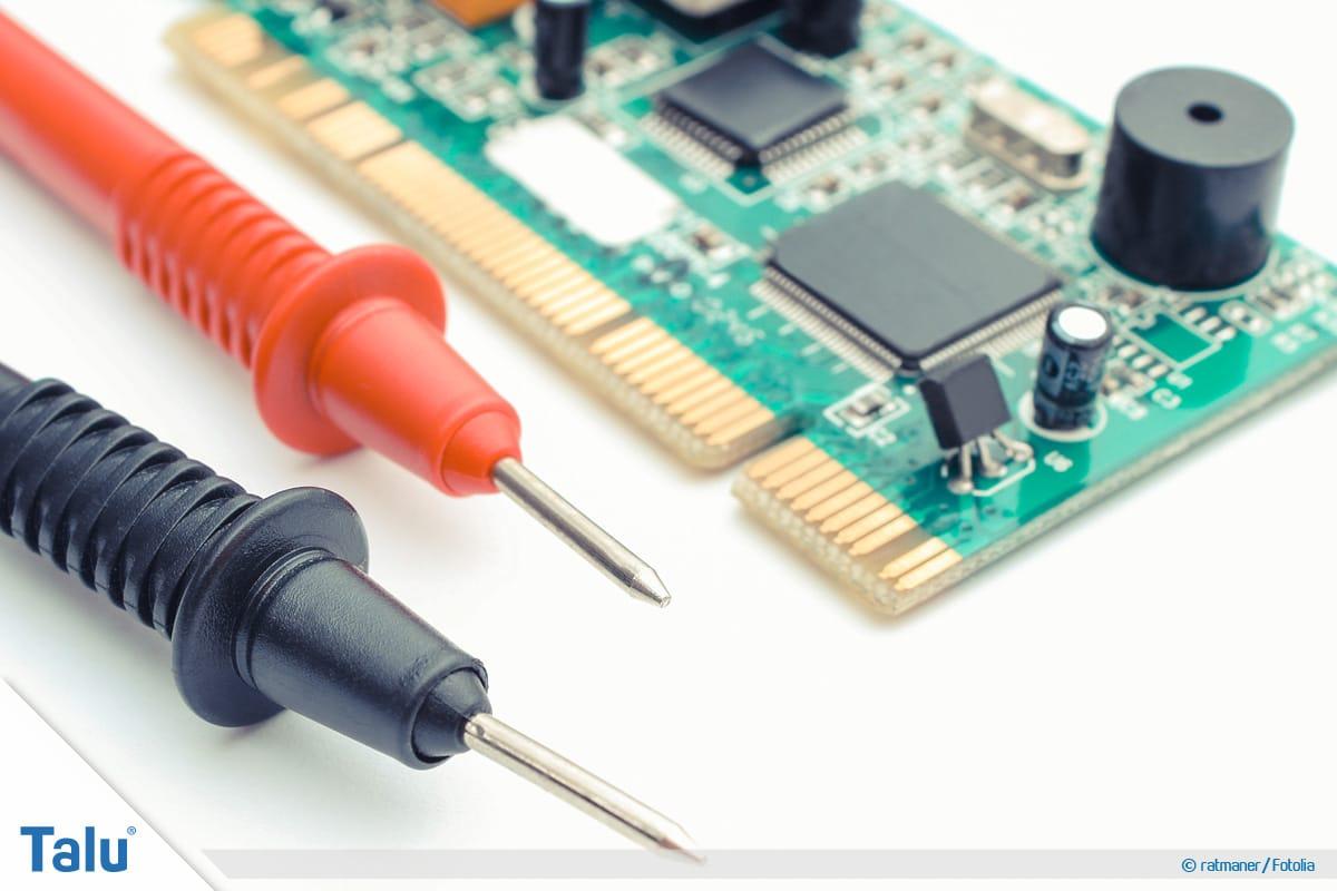 Kondensator messen mit Multimeter, Messleiter eines Multimeters