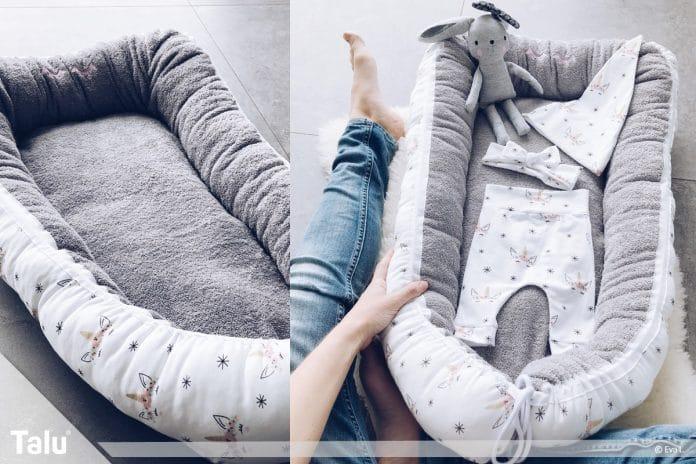 Nestchen nähen, kostenlose Anleitung für ein Babynest