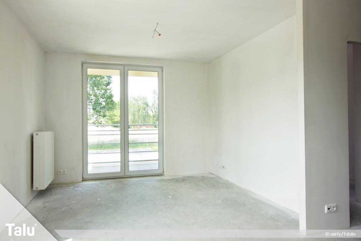 Vinylboden verlegen, Raum ohne Vinylboden