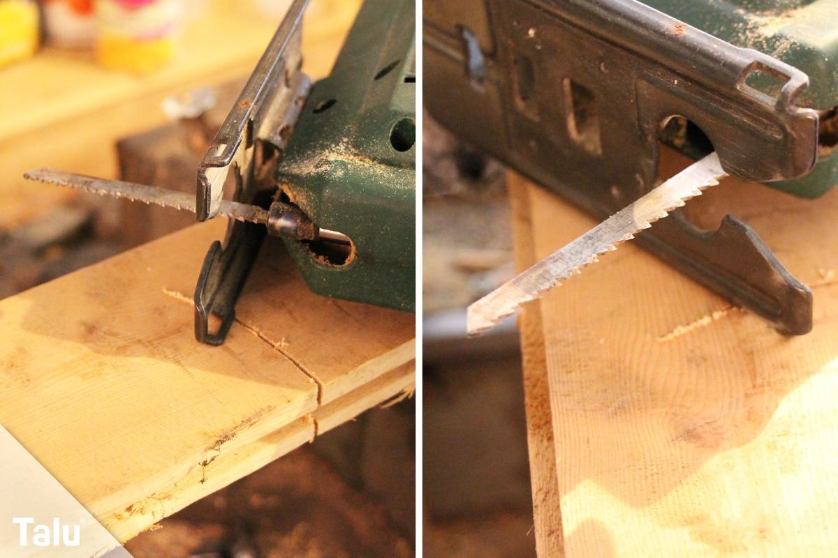 Vinylboden verlegen, Stichsäge für Zuschnitt verwenden