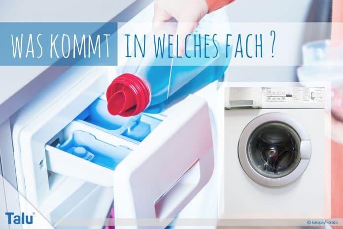 was kommt in welches fach waschmittel weichsp ler waschmaschine. Black Bedroom Furniture Sets. Home Design Ideas
