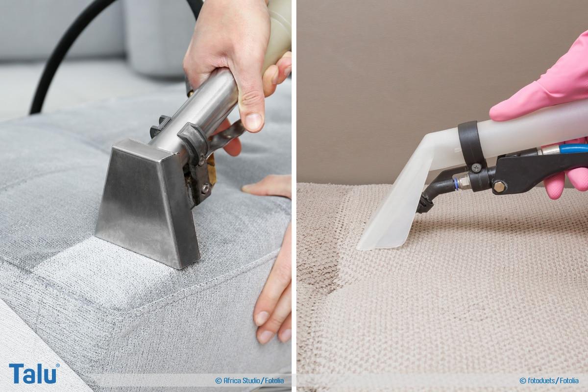 Wasserflecken von Sofa entfernen, Sofa professionell reinigen lassen
