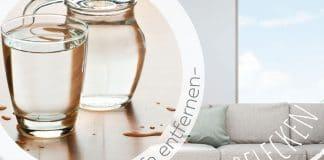 Wasserflecken von Sofa entfernen, effektive Reinigungsmittel