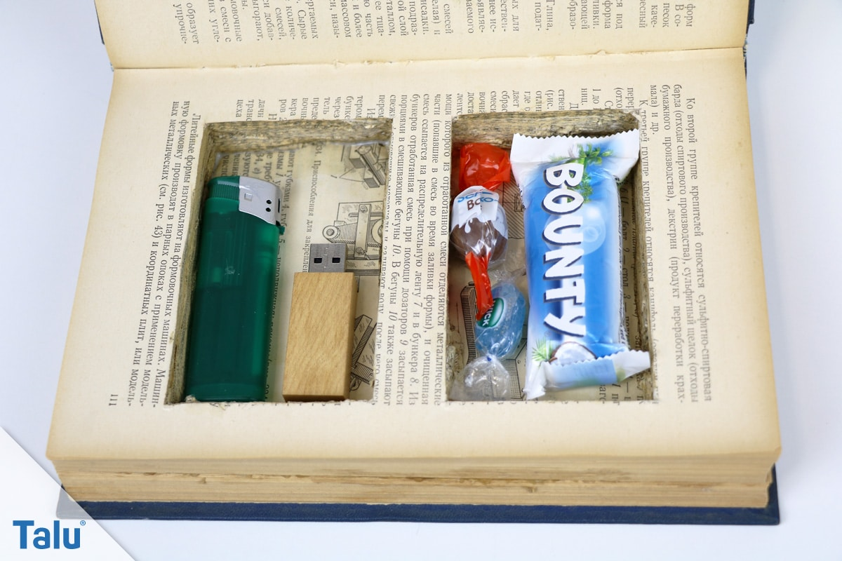 Upcycling Buch: Versteck