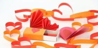 Herz basteln, Ideen für Herzen zum Valentinstag