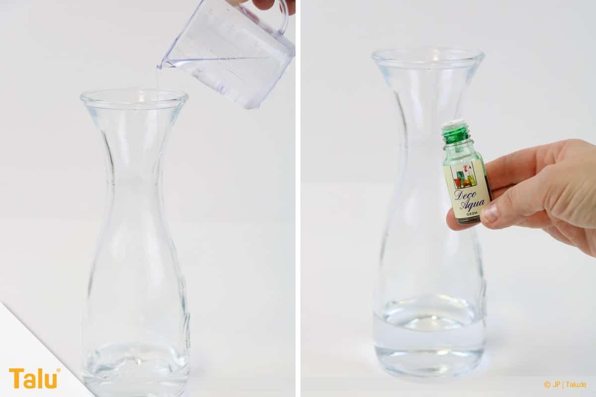 Lavalampe selber machen, Wasser abmessen