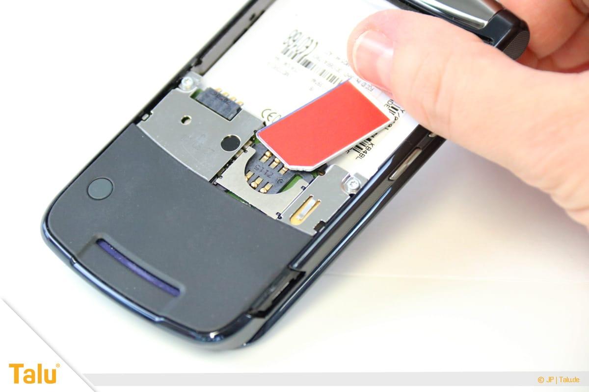 Nano/Micro SIM-Karte zuschneiden, SIM-Karte ins Handy einsetzen