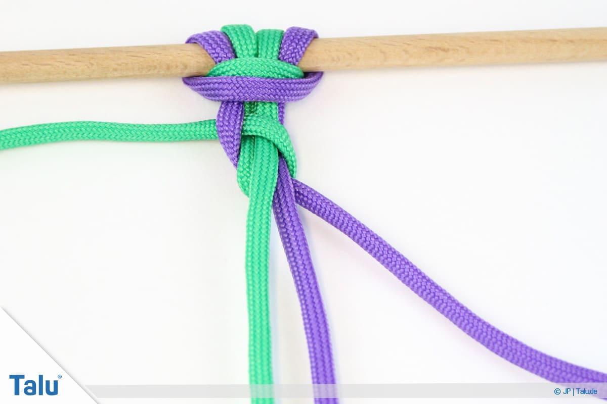 Paracord knoten, Schlangenknoten festziehen