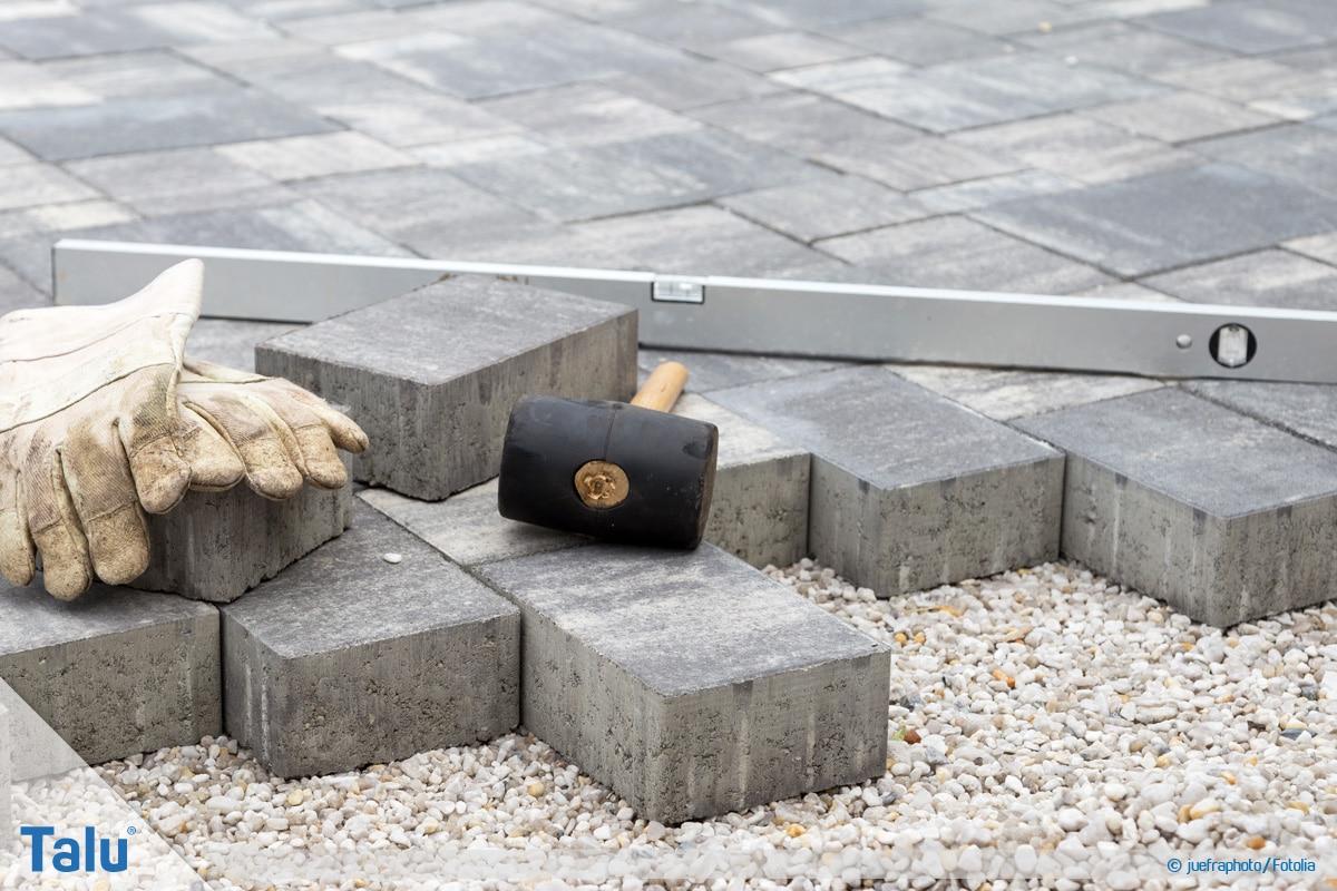 Pflaster verlegen, Steine verlegen