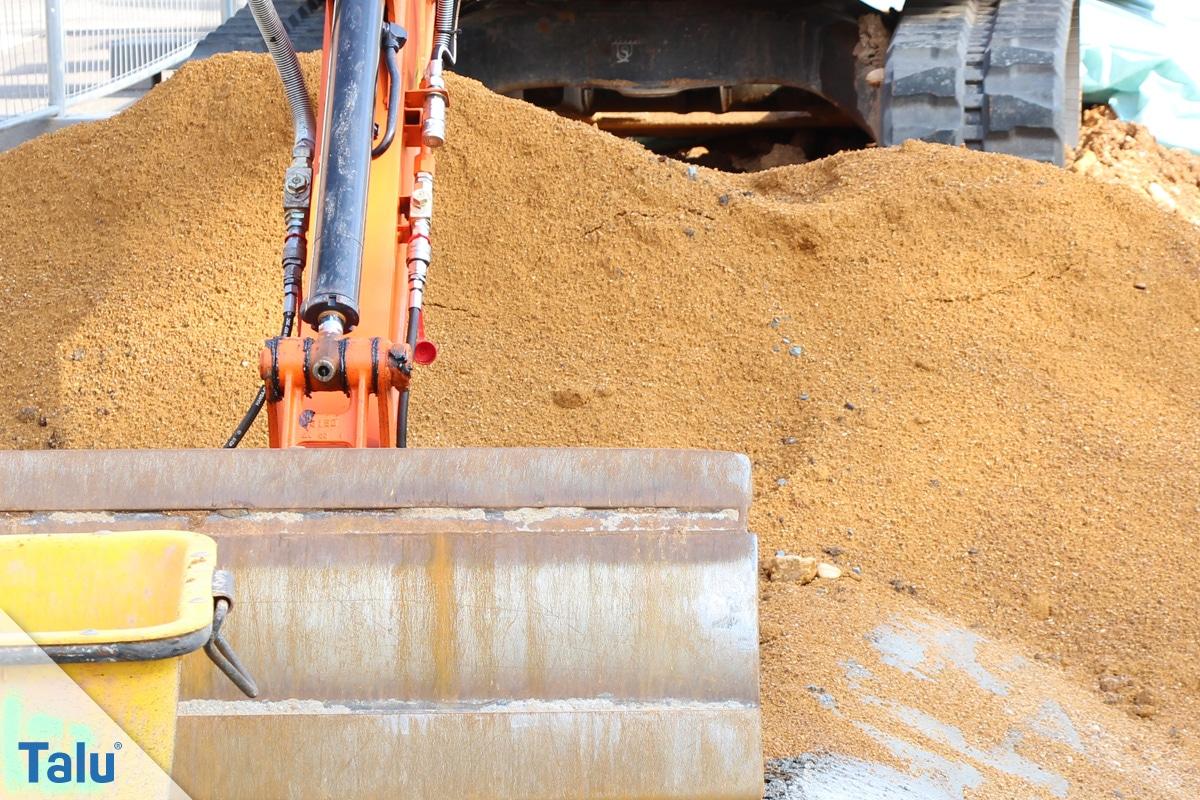 Pflaster verlegen, Sand für das Sandbett