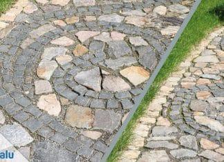 Pflaster verlegen, DIY Gartenweg aus Pflastersteinen